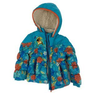 DISNEY Moana Hooded Puffer Sherpa Jacket